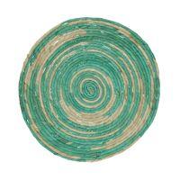 SWIRL - placemat - jute - DIA 38 cm - aqua