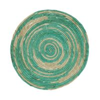 SWIRL - set de table - jute - DIA 38 cm - aqua