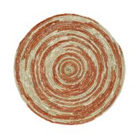 SWIRL - placemat - jute - DIA 38 cm - oranje