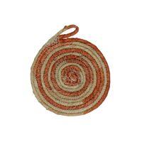 SWIRL - set/4 coasters - jute - DIA 11 cm - orange