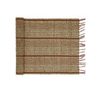 CARCASSONNE - tafelloper - zeegras / katoen - L 140 x W 40 cm - oranje