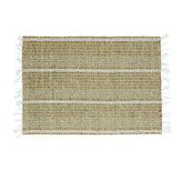 CARCASSONNE - placemat - zeegras / katoen - L 48 x W 33 cm - wit