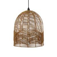 CYPRUS - hanglamp - rotan / metaal - DIA 45 x H 50 cm - naturel