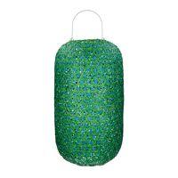 TUNIS - lanterne - bambou / verre - DIA 35 x H 60 cm - aqua