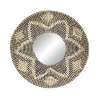 IBIZA - miroir - jonc de mer / synthétique - DIA 60 x W 7 cm - mix de couleurs