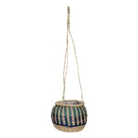 NAIROBI - hanging basket - seagrass - DIA 23 x H 17/80 cm - green