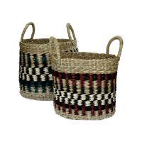 NAIROBI - set/2 baskets - seagrass - DIA 25/32 x H 30/35 cm - mix of colours
