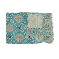 ZELLIGES - plaid - katoen - L 170 x W 130 cm - blauw