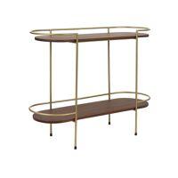 ARTDECO  - rack 2 shelves - mango wood / metal - L 100 x W 35 x H 80 cm - walnut
