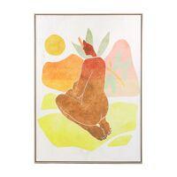 LA FEMME - canvas with frame - linen / wood - L 100 x W 4,3 x H 140 cm - multicolor