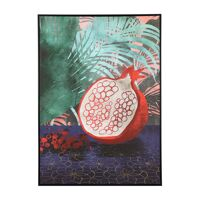 GRENADE - canvas with frame - linen / wood - L 100 x W 4,3 x H 140 cm - red