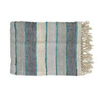KRETA - throw - linen / viscose - L 170 x W 130 cm - multicolor
