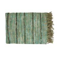 NATARAJ - plaid - linnen / viscose - L 170 x W 130 cm - groen