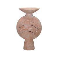 ROUSSILON - vaas - aardewerk - L 14 x W 17 x H 28 cm - roze