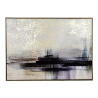 PORTO - canvas with frame - canvas / wood - L 140 x W 4,3 x  H 100 cm - blue