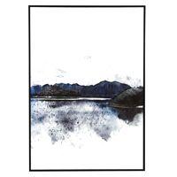 HORIZONTE - canvas with frame - canvas / wood - L 100 x W 4,3 x H 140 cm - blue