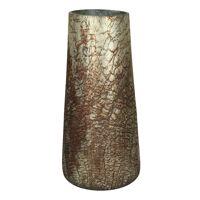 PLANETA - vaas - glas - DIA 16 x H 36 cm - brons
