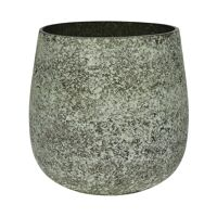 ROCK - flower pot - glass - DIA 25 x H 25 cm - grey