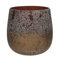 ROCK - flower pot - glass - DIA 25 x H 25 cm - mix of colours