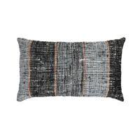 SOPHIA - kussen - katoen - L 50 x W 30 cm - grijsblauw