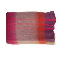 MIKO - plaid - acrylique / laine - L 150 x W 125 cm - mix de couleurs