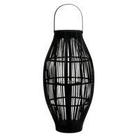 AURORA - lantaarn - bamboe - DIA 35 x H 69,5 cm - zwart
