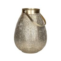 LACE - lantaarn - metaal / glas - DIA 25,5 x H 30,5 cm - goud