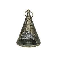 LACE - lantern - metal - DIA 14,5 x H 20,5 cm - gold