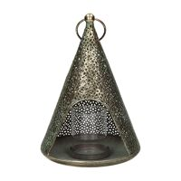 LACE - lantern - metal - DIA 17 x H 24 cm - gold