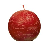 CANDLE - candle ball - paraffin wax - DIA 9 cm - red
