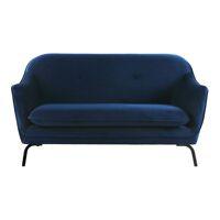 LUSSO - canapé - velvet / métal - L 149,5 x W 76 x H 86 cm - bleu