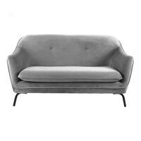 LUSSO - canapé - velvet / métal - L 149,5 x W 76 x H 86 cm - gris clair