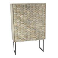 NORD - armoire - bois de mangier / métal - L 90 x W 40 x H 140 cm