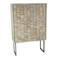 NORD - cabinet - mango wood / metal - L 90 x W 40 x H 140 cm