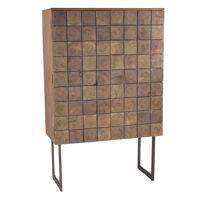 SIROCCO  - 2-deurs kast - acacia hout / metaal - L 90 x W 40 x H 140 cm