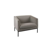 CONY  - 1-seater sofa - fabric / metal - L 90 x W 73,5 x H 74 cm - light grey