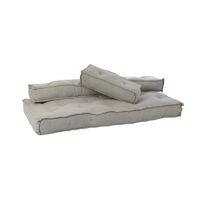 BIRGIT - set/3 kussens voor hoekzetel rechts/links - katoen - L 170 x W 85 x H 20 cm - licht grijs
