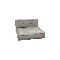 BIRGIT - set/2 kussens voor 1-zitbank - katoen - L 85 x W 85 x H 20 cm - licht grijs