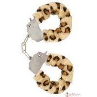 Handboeien in luipaardbont