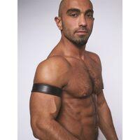 Leren biceps band - Zwart