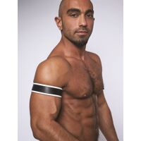 Bracelet de biceps en cuir - Blanc
