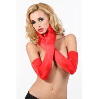 Rode fluwelen handschoenen