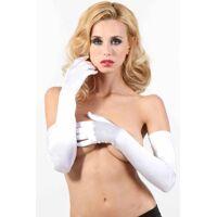 Witte fluwelen handschoenen