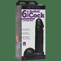 Gode vac-u-lock noir 6inch