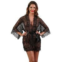 Black nightgown in lace