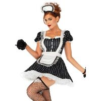 Frisky French maid