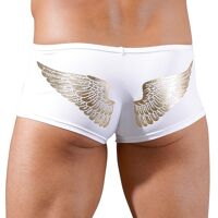 Short with zipper and printed wings