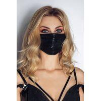 Masker in wetlook met kant