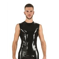 Rubber Sleeveless T-Shirt Black