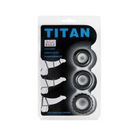 Set van 3 Siliconen Penis Ringen Titan COCKRING